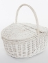 White basket with lids